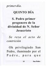 Novena en Honor a San Pedro - L330.0024 image 2