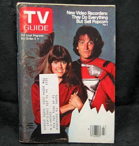 TV Guide October 28, 1978  Mork and Mindy Cover