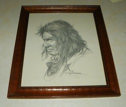 Carved Walnut Frame with Print by Troy Anderson - $129.00