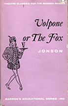 Volpone or The Fox by Ben Johson - $3.00