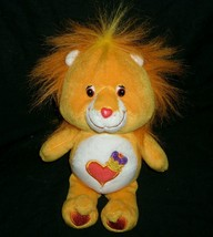 "10"" CARE BEARS COUSINS BRAVE HEART LION ORANGE STUFFED ANIMAL PLUSH TOY ... - $10.76"