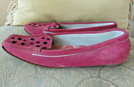 Coach Pink Suede Flats Slippers Loafers Size 8 Usa - $75.00