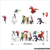 """One Big Hero 6 Wall Sticker Cartoon Character Removable - (36 """" X 12 """") image 3"""