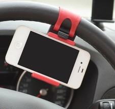 Universal Car Streeling Steering Wheel Cradle Holder SMART Clip Bike Mount image 2