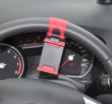 Universal Car Streeling Steering Wheel Cradle Holder SMART Clip Bike Mount image 7