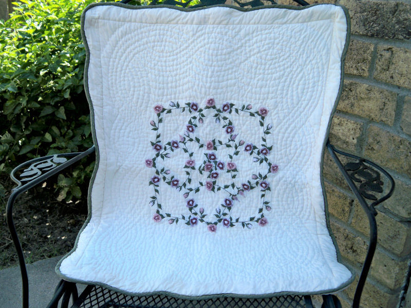 Vintage quilted pillow shams1