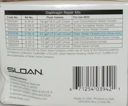 Sloan Water Closet Flushometer Repair Kit Traditional Segment Diaphragm Drop In image 2