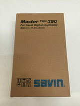 New OEM Genuine Savin Master 350 2 rolls 4555 893021 for Digital Duplicator - $99.00