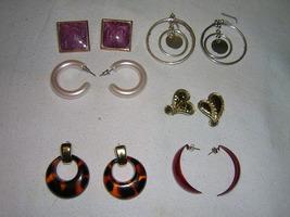 Six Sets of Earring Mixed Lot Pierced Ear, Retr... - $7.50
