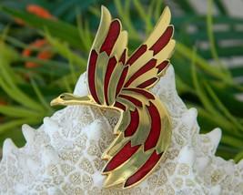 Vintage Rivest Canadian Goose Bird Modernist Figural Brooch Enamel   image 3