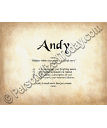 Andy Hidden Within Your Name Is A Special Story... - $8.95