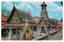 Thailand Bangkok Wat Phra Kaew Inside Temple of Emerald Buddha Vintage P... - $5.69