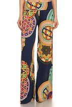 ICONOFLASH Women's Wide Leg Palazzo Pants with Fold-Over Waist (Celtic, Medium) - $27.71