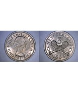 1963 New Zealand 3 Pence World Coin - $5.75