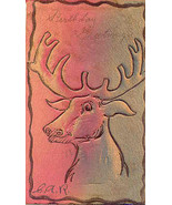 Elk Head leather Vintage 1906 Post Card - $5.00