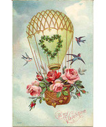 Flying To My Valentine Vintage Post Card - $7.00