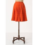 NWT Anthropologie Postmark Orange Cotton Darlen... - $39.16