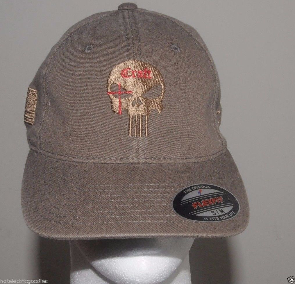 S m flex fit chris kyle cap hat craft american sniper gray for Cap crafter
