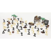 True Legends Heroes Pirate Bucket 72 Pieces Pir... - $10.88