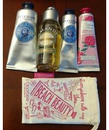 NEW! 5 PIECE LOT L'OCCITANE 2.5 OZ. AMANDE SHOWER OIL & 3 HAND CREAMS,BE... - $28.70