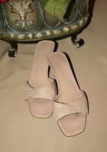 Gucci Monogram Womens Slip On Slide Sandals Heels Size 8.5p - $159.88