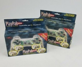 Playpak Plus per Sony PLAYSTATION Trasparente Joystick e 2 Playsticks Set Of 2 - $28.71