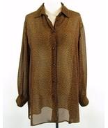 DESIGNS LANE BRYANT Size 14W 16W  Animal Print Sheer Mid-Thigh Blouse Top - $19.99