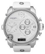Diesel Men's SBA Daddy Oversize Steel Multifunction White Leather Watch DZ7194 - £119.41 GBP