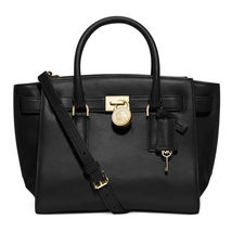 NWT Michael Kors Handbag Hamilton Traveler Large Leather Satchel, Shoulder Bag  - $319.99