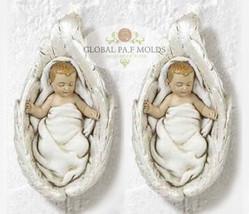 3D Baby Enfolded in Angel Wings mold - $28.00