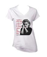 Marilyn Monroe Quote - New Cotton Tshirt- S-M-L-XL-XXL - $34.65