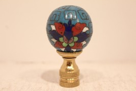 """Beautiful Vintage Style Cloisonne Blue Ball Finial 2"""" - $29.69"""