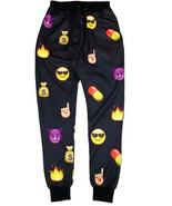 Mens Womens 3D EMOJI Print Funny Black Pill MoneyJogger L Pants Assorted... - $11.00+