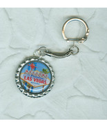Welcome to Las Vegas  Hand Made Key Chain  Bottle Cap Style - $2.99