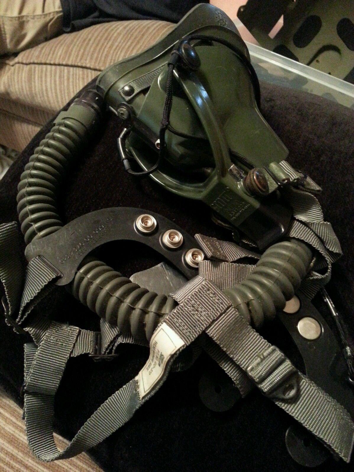 Military Mask oxygen pilot SCOTT helmet flight mask Armed Forces helicopter #1
