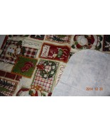 Thick Flannel Backed Vinyl Tablecloth, with Santa Claus, snowmen, mitten... - $18.00