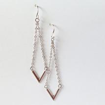 Arrowhead Sterling Silver Chevron Dangle Earrings - $25.55