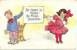 My Heart Is Yours artist R Outcault Vintage 1910 Post Card - $10.00
