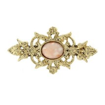 Downton Abbey Collection Gold Tone Peach Rose Stone Brooch Pin 18048 Fre... - $20.67