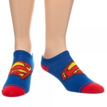 Official DC ComicsSuperman Logo Blue Red Yellow Hero Ankle Sock Free Shi... - $7.59