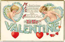 Give Me Your Heart a Cupid 1913 Post Card - $6.00