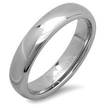 5mm Mens Tungsten Wedding Ring Band; Plain Finish, Sizes 7-12 With Half-... - $29.95