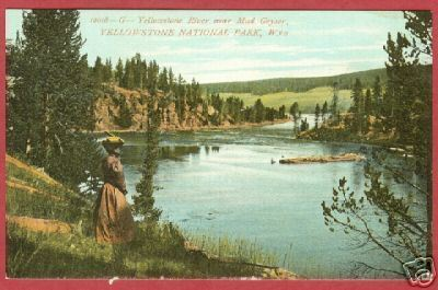 Primary image for YELLOWSTONE NAT'L PARK WYOMING River Nr Mud Geyser BJs