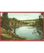 YELLOWSTONE NAT'L PARK WYOMING River Nr Mud Geyser BJs - $7.50