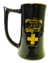 1974 Winfield NJ Ambulance Fire Department Maltese Black Gold Mug Stein ... - $29.37