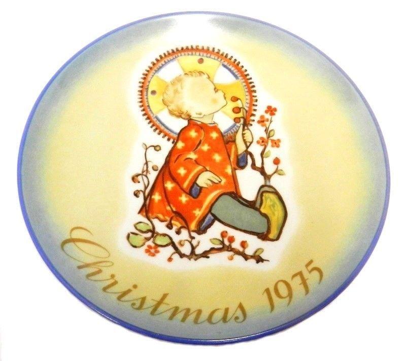 1975 Berta Hummel Christmas Child West Germany Limited Edition Plate Vintage - $24.47
