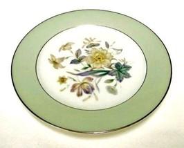 4 Noritake Bone China Mint Green Shasta Floral Salad Side Plates 5305 Japan - $39.17