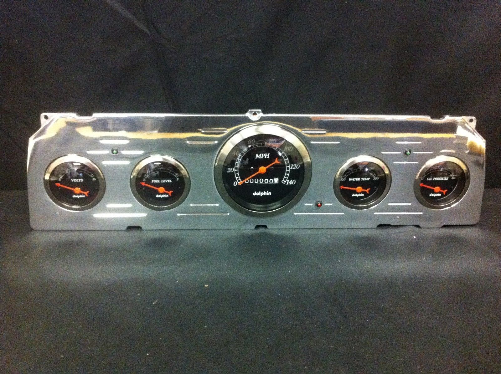 64 65 66 Chevy Truck 5 Gauge Cluster And 14 Similar Items 1957 Black