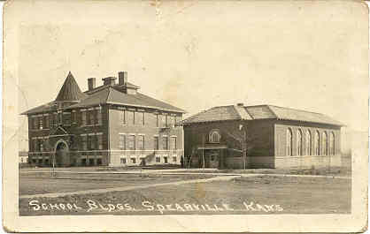 Primary image for High School Spearville Kansas 1922 Vintage Post Card