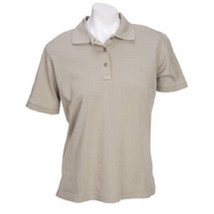 511 Tactical Polo Shirt Professional Women's Ladies Tan Short Sleeve Large New - $29.67